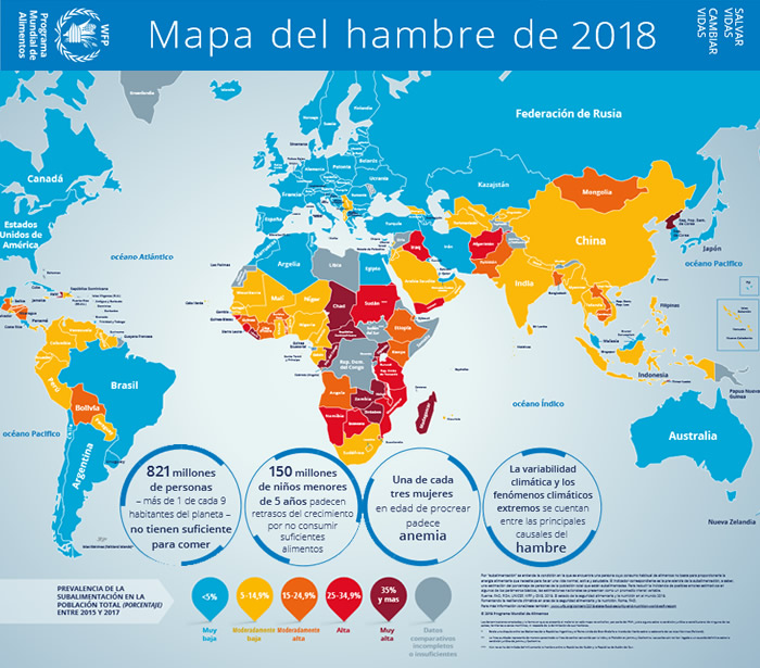 Mapa Del Hambre 2017.El Mapa Del Hambre 2018 En La Agenda Seguridad Alimentaria
